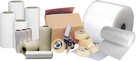 Assorted packaging products